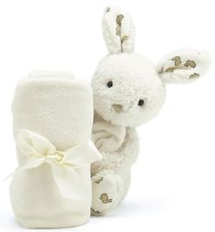 Jellycat Moonbeam Bunny Soother (Folded up)