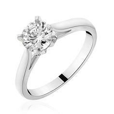 Solitaire diamant or blanc  Celeste