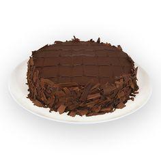BRIGADEIRO COM RASPAS - Massa soufflé, recheada e coberta  com delicioso brigadeiro, decorada  com calda de chocolate e raspas de  chocolate meio amargo.