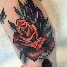 Rose tattoo by Gia Rose GiaRose neotraditional rose flower floral