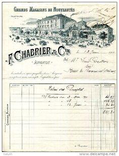 Vieux Papiers > Factures & Documents commerciaux > France > Textile & vestimentaire - Delcampe.net