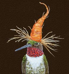 A carrot makes a fine hat, by Vicki Sawyer, 10th Annual Tomato Art Fest