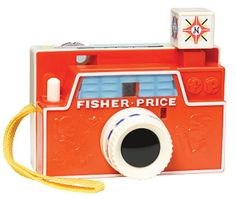 Retro toy camera by Fisher Price. I forgot about this! I totally had one. You can still get them!