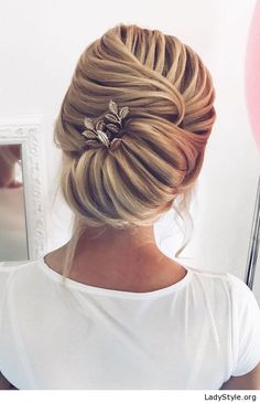 Braided updo with a sweet hair pin - LadyStyle