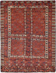 Schuler Auktionen Zürich     Jomud-Engsi Turkmenistan, um 1900 127x160 cm (ft. 4.2x5.3).