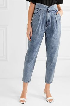 Find and compare Staunch pleated high-rise tapered jeans across the world's largest fashion stores! 80s Jeans, Jeans Boyfriend, Tapered Jeans, Denim Trends, Denim Outfit, High Waist Jeans, Jeans Style, Ideias Fashion, Fashion Outfits