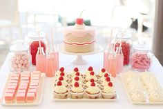 This dessert table is refreshing. #pink #dessert #table