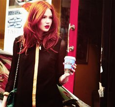 Red Hair. Red Lips.
