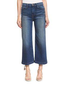 FRAME Le Capri Crop Wide-Leg Jeans, Plum Beach. #frame #cloth #