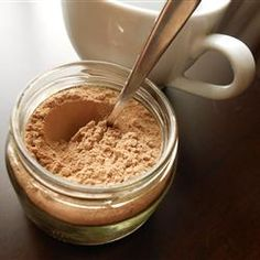 Cappuccino Mix in a Jar Allrecipes.com - might need some customization, but a good base recipe to follow.