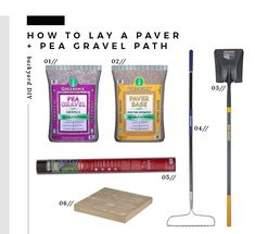 Day Project : Transforming Our Side Yard Shop Greensmix Ft Brown Pea Gravel Greensmix Ft Paver Base Blue Hawk Fiberglass Long-Handle Transfer Shovel Pcl-Fp-Bh Kobalt L Fiberglass-Handle Steel Garden Rake Sta-Green Premium Landscape Fabric (Common: X Act