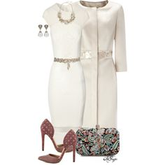 """""""Always classy in ivory"""" by kginger on Polyvore"""