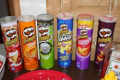 easy rainbow food we did for daughters bday and who doesnt love pringles