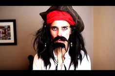 Joe Sugg's impressions // Jack Sparrow // edit by Caspar Lee, Joe Sugg, Captain Jack Sparrow, Zoella, Youtubers, Halloween Face Makeup, People, People Illustration, Folk
