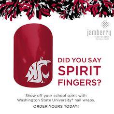 Washington State University Nail Designs - Cougar Nail Wraps