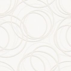 White Paintable Embossed Wallpaper | Textured Vinyl Cream Paintable wallpaper 10m - Circles Beaded - Albany ...