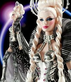 Gagafied Galactic Dolls - The Mattel Goddess of the Galaxy Barbie is Inspired by the Pop Icon (GALLERY) Beautiful Barbie Dolls, Pretty Dolls, Bad Barbie, Barbie Stuff, Poppy Parker, Barbie Collector, Barbie Friends, Glamour, Barbie World