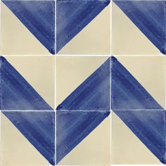 Mexican Tile - Blue & White Harlequin Mexican Tile