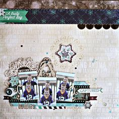 Best Ever Buddies Scrapbook Page by Rhonda Van Ginkel for BoBunny Featuring the Altitude Collection. #BoBunny @snapwhiz