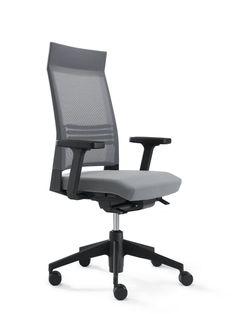 SLAT 16 work chair, upholstered, high backrest with mesh, model SLS321
