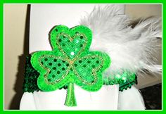 St. Patrick's day sequined headband. Shop Catchee on Etsy.com