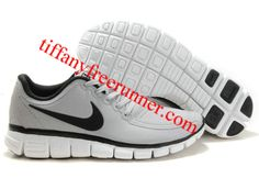 detailed look 84497 2dac9 Nike Free 5.0 White Black Gray Mens Running Shoes