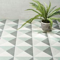 Auteur Diamond Sage Matte 9x9 Porcelain Tile: Pattern 2 Cleaning Tile Floors, Bathroom Flooring, Outdoor Flooring, Outdoor Walls, Wall And Floor Tiles, Wall Tiles, Cement Tiles, Coastal Colors, Encaustic Tile