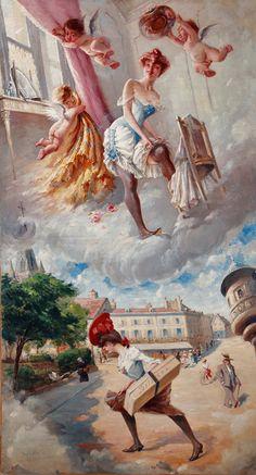"""""""Le Rêve de la Lorette"""" - exposition Adolphe Willette « J'étais bien plus heureux quand j'étais malheureux ! » au Musée Félicien Rops (Namur)"""