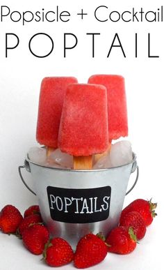 POPTAIL (#popsicle + #cocktail). So fun for #entertaining this spring and summer! #DIY