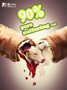 dairy is cruel; ditch dairy, go #vegan