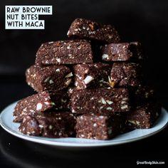 Raw Brownie Nut Bites with Maca 100% model-proof! #glutenfree #processedsugarfree #raw #vegan Find the recipe at http://greatbodyskin.com/raw-brownie-nut-bites-with-maca/