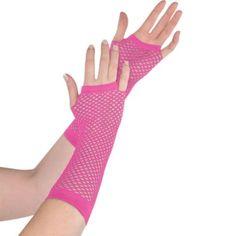 P Fishnet Elbow Length Gloves Fancy Dress 80/'s Punk Hen Party FREE POST
