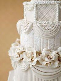 unique floral wedding cake