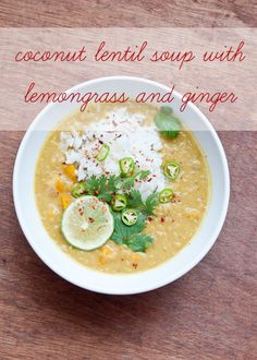 Coconut Lentil Soup | www.cafejohnsonia.com