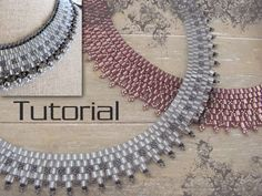 Tutorial for beadwoven cube bead necklace by TrinketsBeadwork