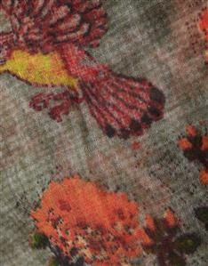 AMBER-GARDINIA PRINT SCARF Silk Scarves, Womens Scarves, Amber, Women Wear, Fabric, Prints, Design, Tejido, Tela