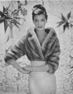 December Vogue 1955 by Karen Radkai
