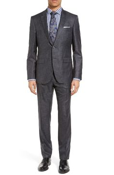 Free shipping and returns on BOSS T-Harvers/Glove Trim Fit Solid Wool & Silk Suit at Nordstrom.com. A richly textured Italian blend of wool and silk elevates a fine suit framed with handsome notch lapels for timeless style. From the BOSS Tailored collection, this suit pays homage to sartorial traditions with its meticulous craftsmanship and specially selected fabrics.