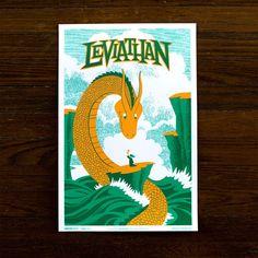 Leviathan Print 12x18 poster, art, green