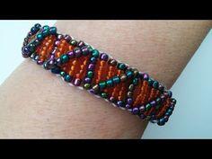 Easy beaded bracelet pattern for beginners. Seed Beads Bracelet