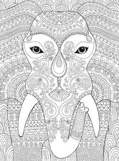 Elephant Stuff Coloring Elephants