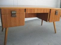 Rare Paul Frankl Mid Century Modern Combed Wood Floating Desk - $725