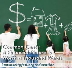 This article suggests the idea of creating a financial vision board to help kids achieve short and long-term savings goals. The related activity guides them in constructing and personalizing their board