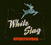 White Stag sign Portland Oregon. Is now the Made in Oregon sign.