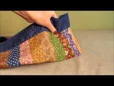 Como fazer um trilho de mesa em patchwork colorido e fácil. - YouTube
