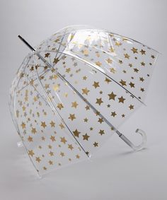 Clear & Gold Star Umbrella