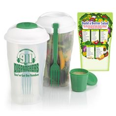 911 Dispatchers: You've Got Our Number Salad-To-Go Shaker And Magnet Combo