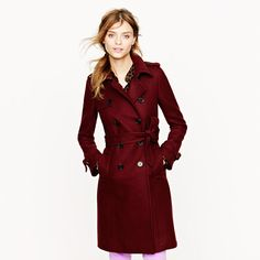 This is an awesome coat. LOVE the color.   Icon trench in wool-cashmere