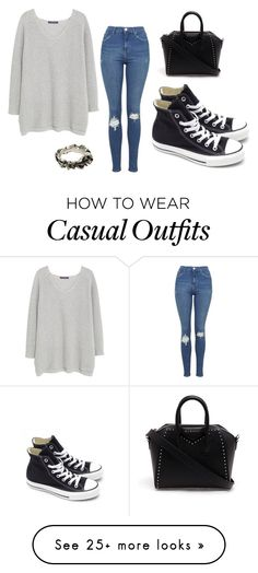 """casual"" by tashasmith7 on Polyvore featuring Violeta by Mango, Topshop, Converse, Givenchy and Werkstatt:München"