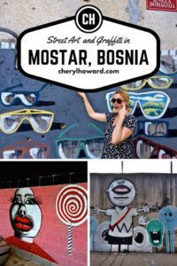 Street Art And Graffiti In Mostar Bosnia